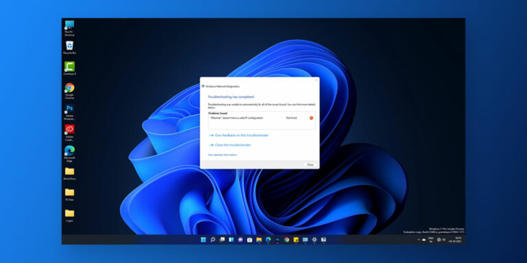 """How to Fix """"Ethernet doesn't have a valid IP configuration"""" in Windows 11"""