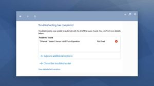 "How to Fix ""Ethernet doesn't have a valid IP configuration"" in Windows 10"