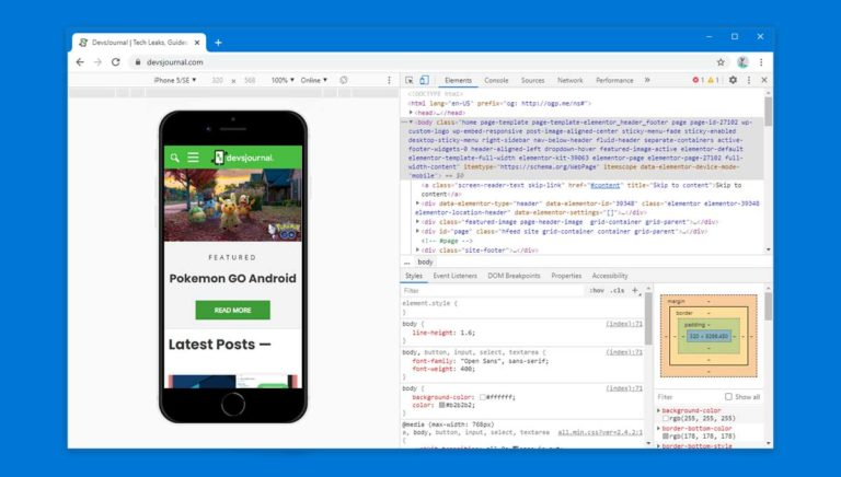 How to access Mobile Version of Site on PC