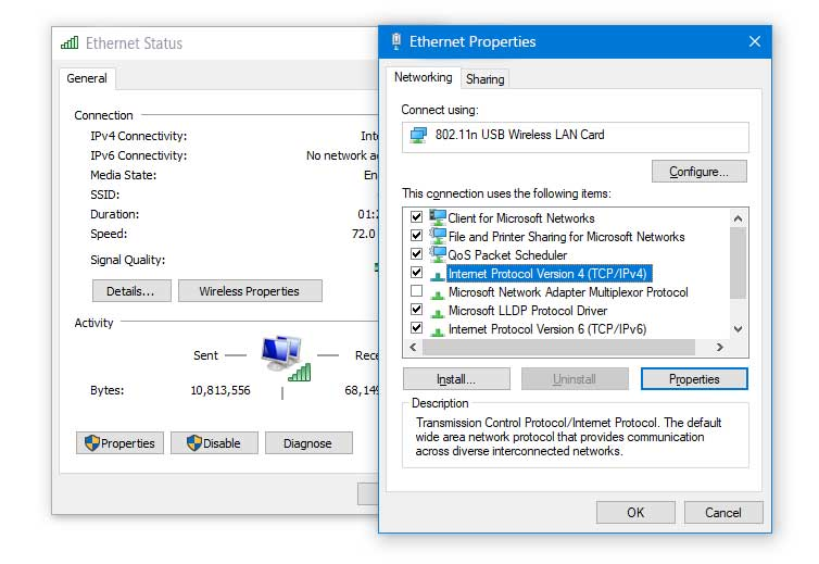 windows 10 ethernet doesn't have a valid ip configuration