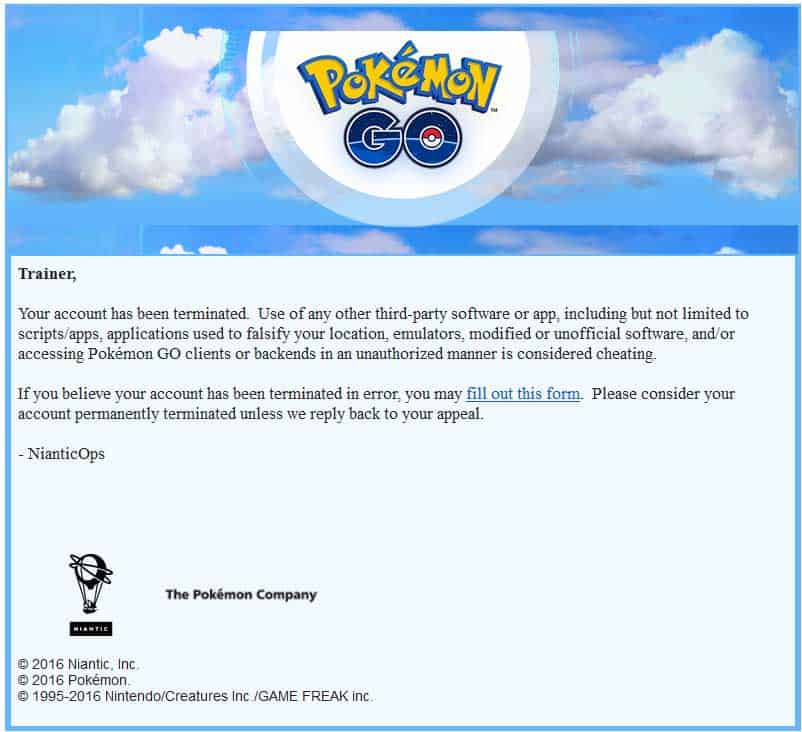 pokemon go can't authenticate