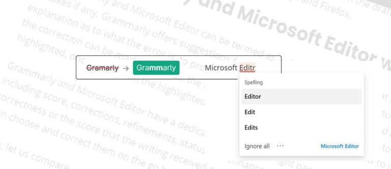Grammarly vs Microsoft Editor – Which one to Choose