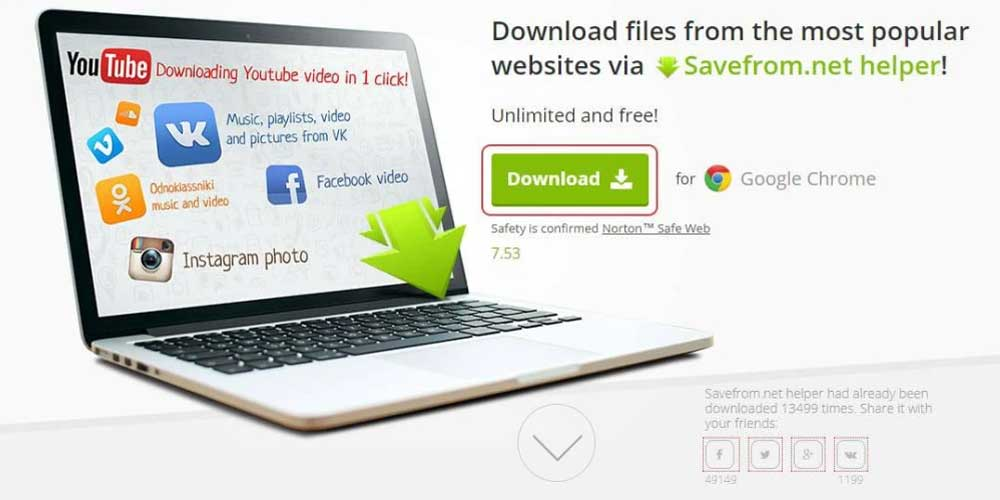 Download-YouTube-Videos-from-Savefrom.net-Google-Chrome