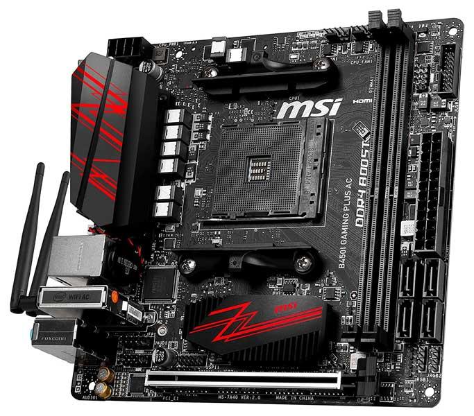 MSI B450I Gaming Plus AC Best Mini ITX Motherboard