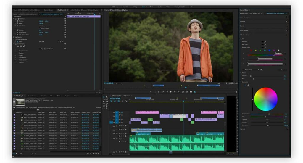 Color Grading in Video Editing Software