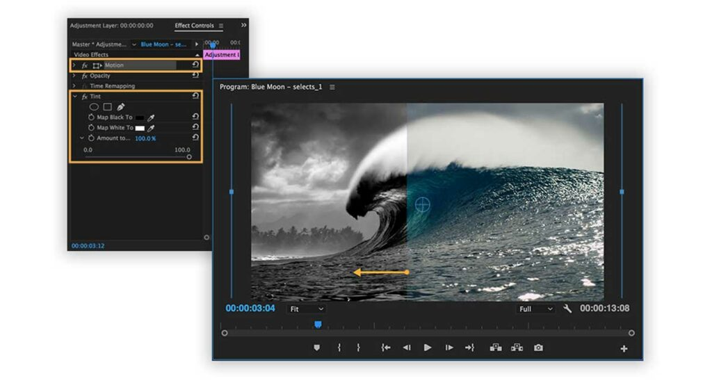 Effects in Video Editing Software