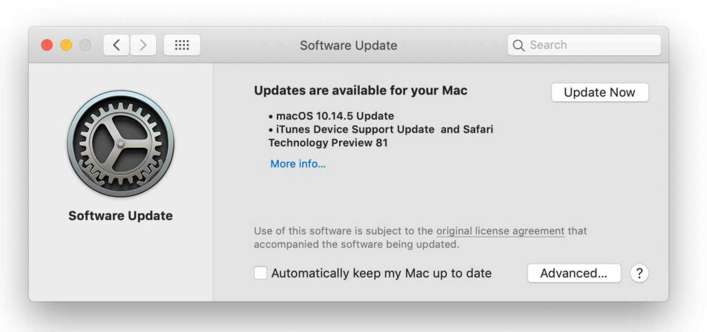 Keep your system Up to date - Mac OS Update