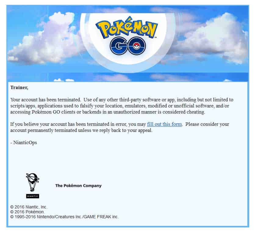Pokemon GO Failed to get data from Server