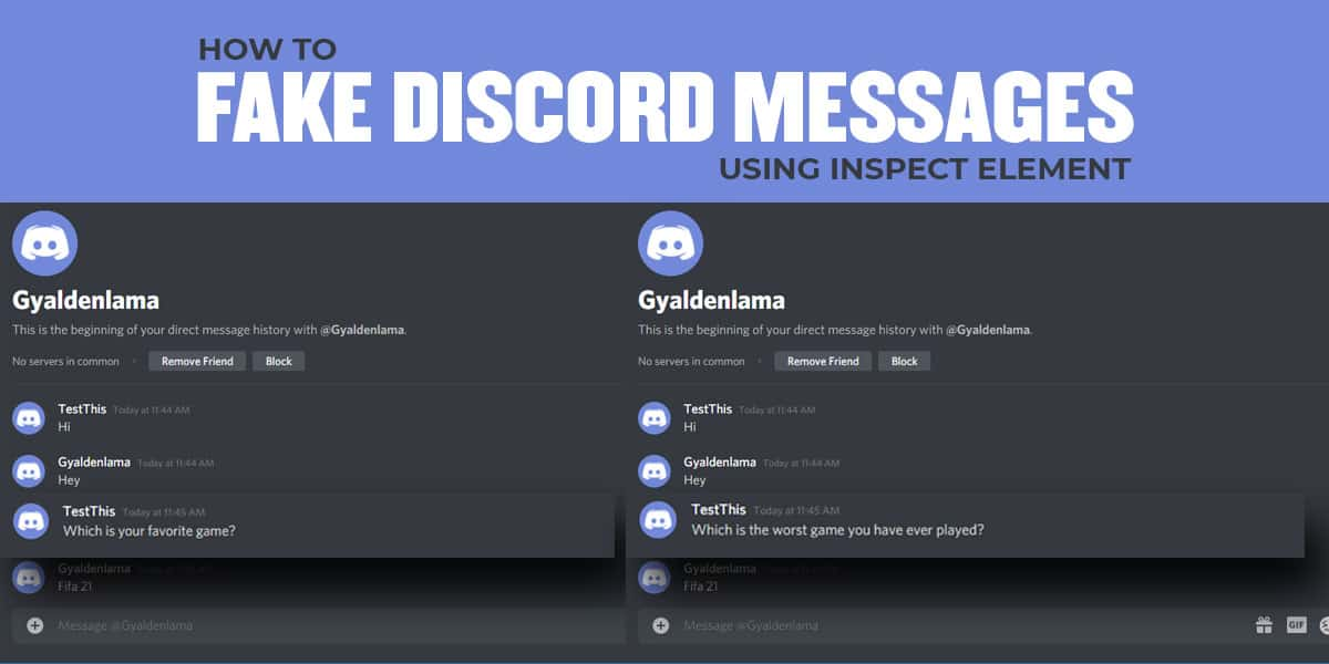 How to Fake Discord Messages Using Inspect Element