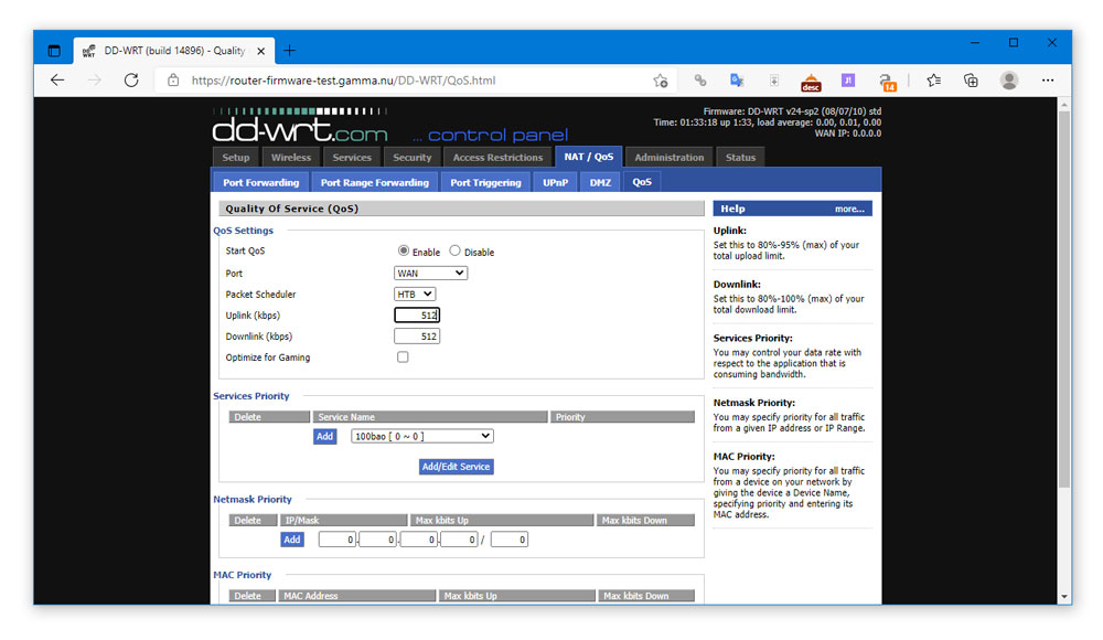 How to Enable QoS on DDWRT Router