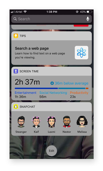 How to Add Snapchat Shortcut on Homescreen on iOS