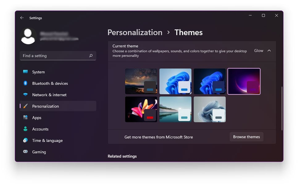 Install Themes From Microsoft Store