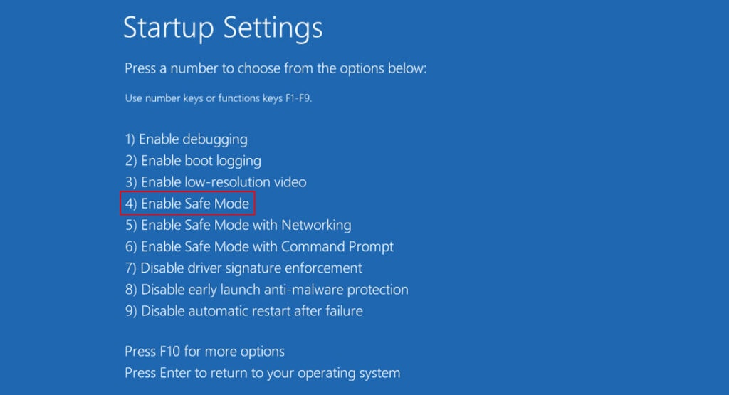 Enable Safe Mode to Fix Windows 11 Black Screen with Mouse Cursor